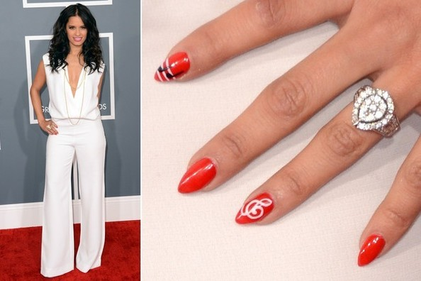 Rocsi Diaz's Nail Art at the 2013 Grammy Awards
