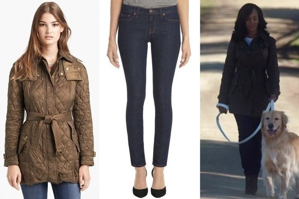 Kerry Washington's Quilted Jacket, Skinny Jeans and Suede Booties on 'Scandal'