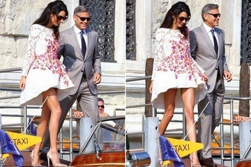 Amal Alamuddin's Post-Wedding Dress