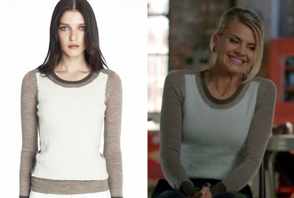 Eliza Coupe's J. Brand Sweater on 'Happy Endings'