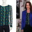 Laura Leighton's Colorful Snakeskin Blouse on 'Pretty Little Liars'