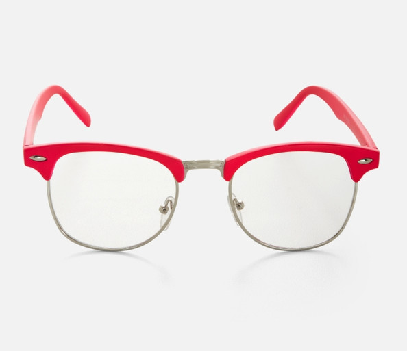 BCBGeneration Pink-Rim Clear Glasses
