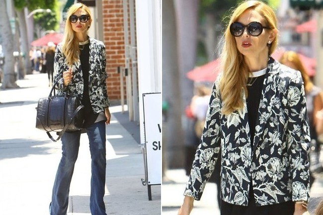 Rachel Zoe's Printed Dressed-Up Denim Look