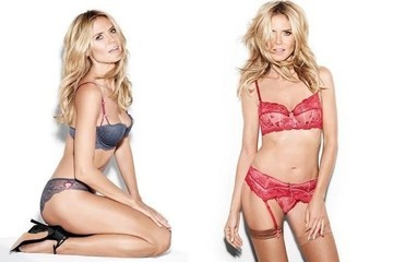 Heidi Klum Debuts a Lingerie Collection