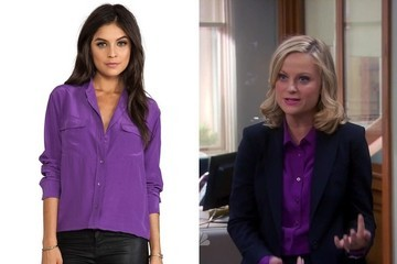 Amy Poehler's Purple Button-Down on 'Parks and Recreation'