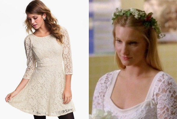 Heather Morris' Lace Dress on 'Glee'