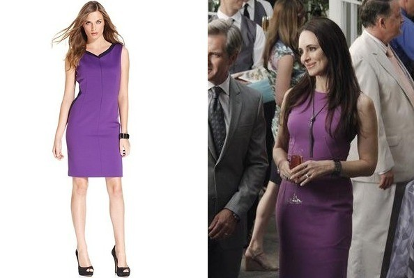 Madeleine Stowe's Purple Sheath on 'Revenge'