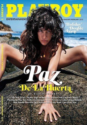 Paz de la Huerta Covers Playboy, Photographed by Mario Sorrenti [NSFW-ish]