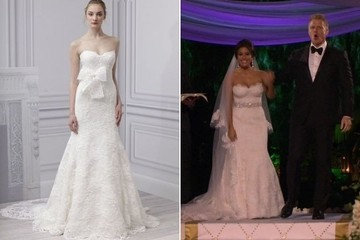 Catherine Giudici's Monique Lhuillier Wedding Gown