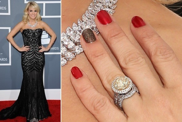 Carrie Underwood's Nail Art at the 2013 Grammy Awards
