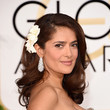 Salma Hayek's Flowered Strands and Bold Brows