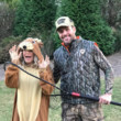 Carrie Underwood and Mike Fisher as a Deer and Hunter