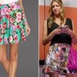 A Flower-Print Flared Skirt Like Jes Macallan's on 'Mistresses'