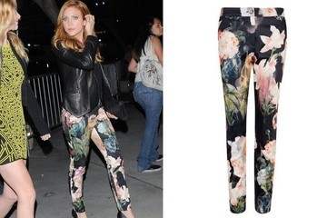 Found: Brittany Snow's Floral Pants