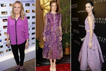 See Which Celebs Have Already Been Rocking Pantone's 2014 Color of the Year: Radiant Orchid