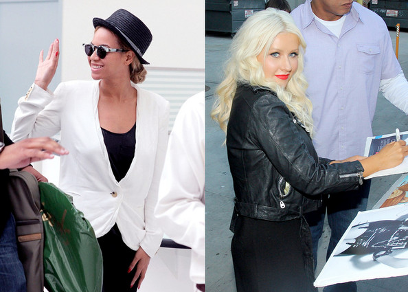 Beyoncé Knowles and Christina Aguilera Both Land 'W' Covers