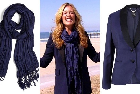 Cat Deeley's Blue Blazer and Scarf on 'So You Think You Can Dance'