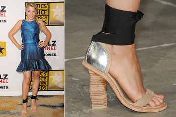 Busy Philipps Gets Crafty in Juan Carlos Obando Heels