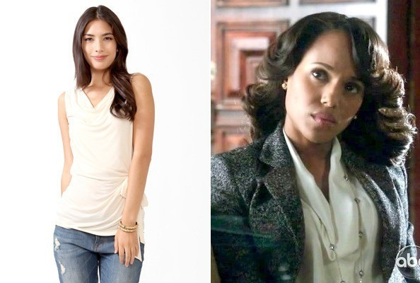 Kerry Washington's Cowl Top on 'Scandal'