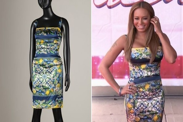 Mel B's Floral Print Dress on 'America's Got Talent'