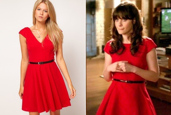 Zooey Deschanel's Red Dress on 'New Girl'