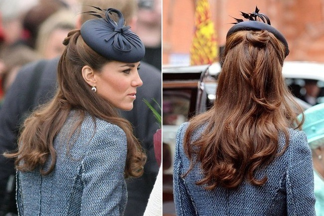 Mother Of The Bride Hats For Short Hair: The Many Half Updos Of Kate Middleton