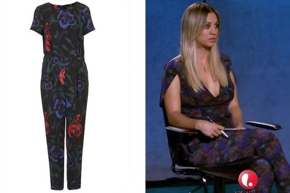 A Dark, Printed Jumpsuit Like Kaley Cuoco's on 'Project Runway'