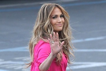 Jennifer Lopez's Electric Pink Romper