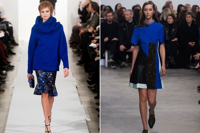 Royal blue at fashion week fall 2014