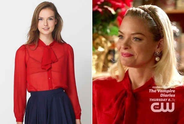 Jaime King's Tie Neck Blouse on 'Hart of Dixie'