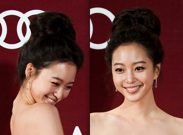 Leslie Han S Beehive Bun Asian Prom Hairstyle Ideas
