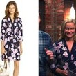 Amy Poehler's Orchid Print Shirt Dress on 'Parks and Recreation'