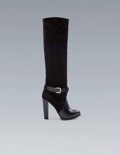Zara's High Heel Boot with Buckle