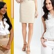 Naya Rivera's Pencil Skirt and Button-Down Top on 'The Glee Project'