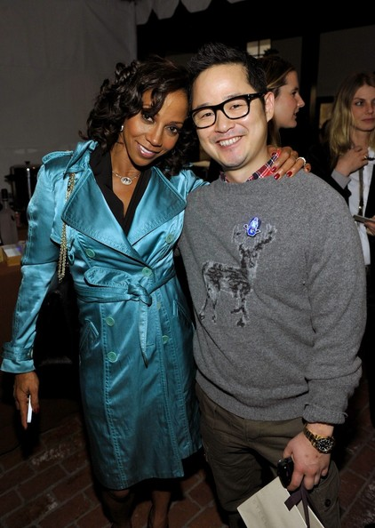Holly Robinson Peete and Danny Seo at the Stella McCartney LA Holiday Party