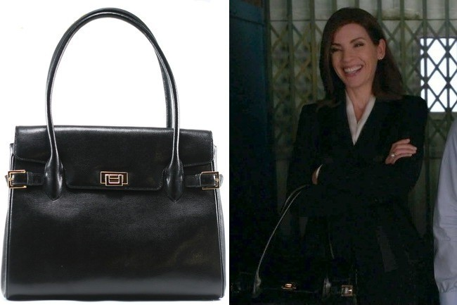 Julianna Margulies S Black Leather Tote On The Good Wife