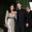 Paula Patton and Robin Thicke at the Vanity Fair Oscars Party 2013