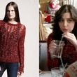 Katie Findlay's Red See-Through Sweater on 'The Carrie Diaries'