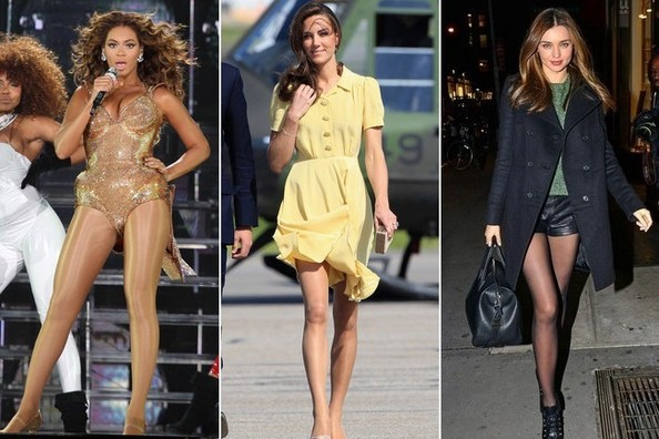 How Celebs Wear Nylon Stockings