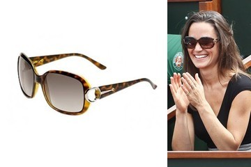 Pippa Middleton Sits Courtside in Gucci Sunglasses