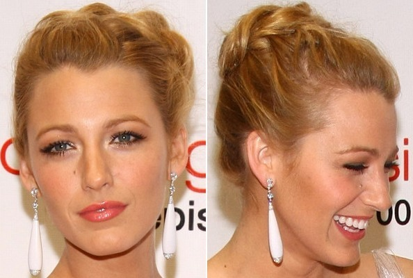Blake Lively's French Braided Bun