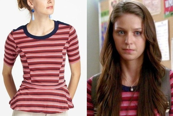 Melissa Benoist's Peplum Top on 'Glee'