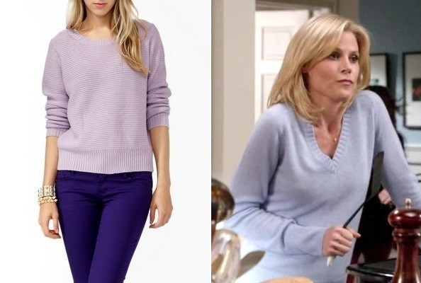 Julie Bowen's Lavender Sweater on 'Modern Family'