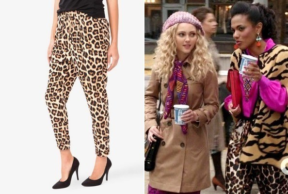 Loose Leopard Pants Like Freema Agyeman's on 'The Carrie Diaries'