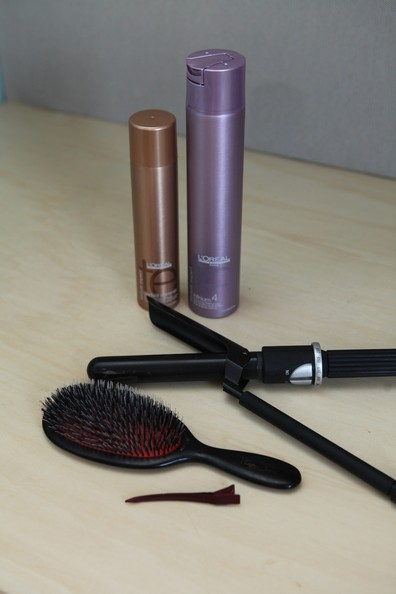 Here are the tools you'll need to DIY this hairstyle