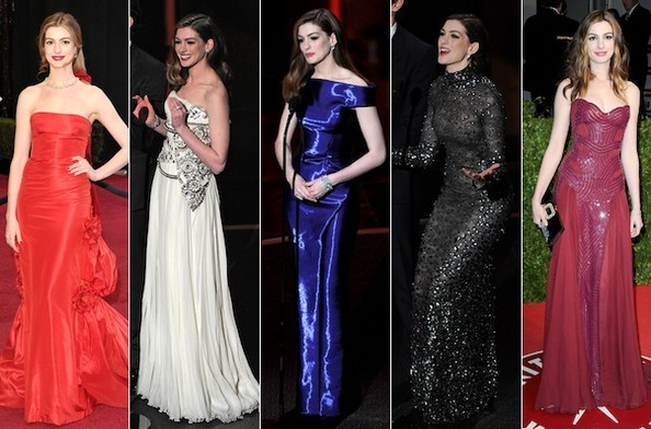 Anne Hathaway Oscars Dresses: To Die For