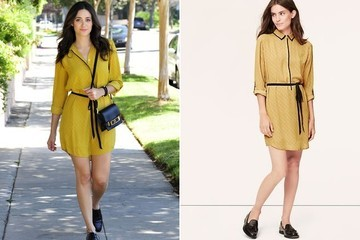Emmy Rossum's Shirt Dress