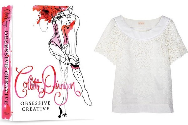 Colette by Colette Dinnigan Rococo Daisies Embroidered Cotton and Silk-Blend Top, $335, at net-a-porter.com