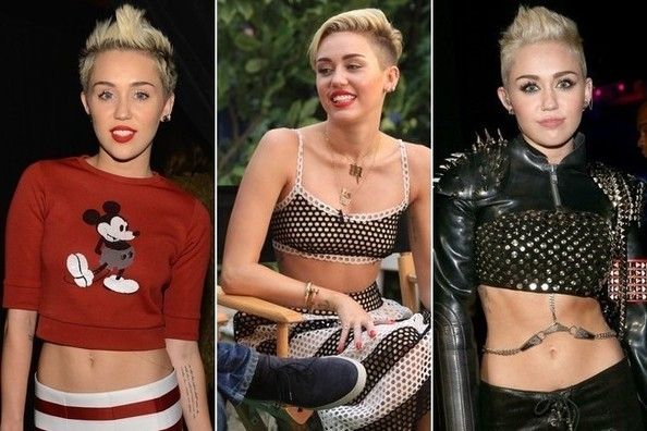 Miley Cyrus Hearts Crop-Tops