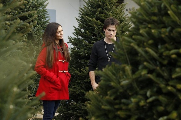 Get Nina Dobrev & Ian Somerhalder's Cute Christmas Tree Shopping Look—For Under $100!